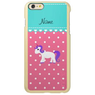 Custom name purple hair unicorn pink tiny dots incipio feather® shine iPhone 6 plus case