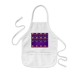 Custom name purple lacrosse christmas pattern aprons