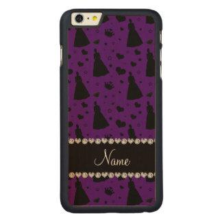 Custom name purple princess hearts stars crown iPhone 6 plus case