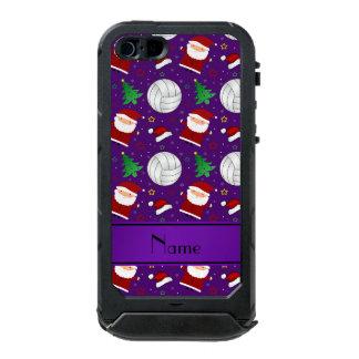 Custom name purple volleyball christmas pattern incipio ATLAS ID™ iPhone 5 case