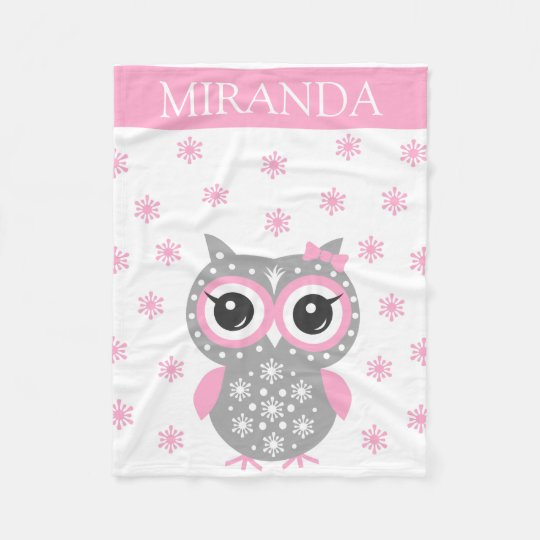 Custom Name Receiving Baby Girl Fleece Blanket