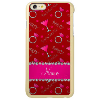 Custom name red bachelorette cocktails rings iPhone 6 plus case