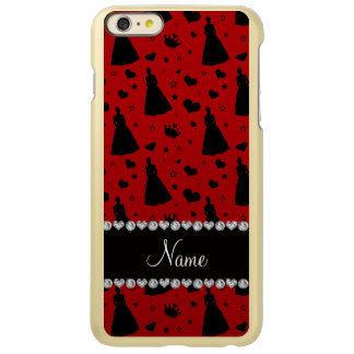 Custom name red princess hearts stars crown iPhone 6 plus case