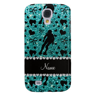 Custom name robin egg blue glitter roller derby galaxy s4 covers