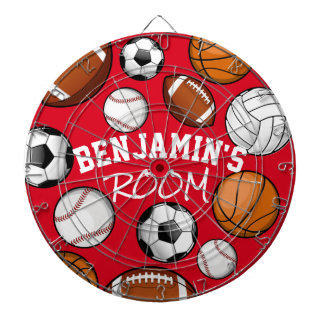 Custom Name Room Marker Red Dartboard