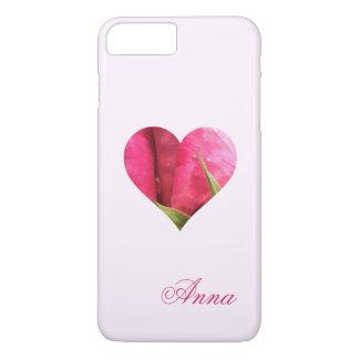 Custom Name Rose Heart iPhone 8 Plus/7 Plus Case