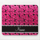 Custom name rose pink glitter cheerleading