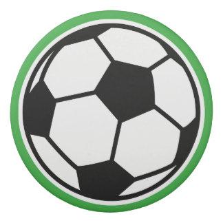 Custom name round soccer ball eraser for kids