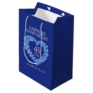 Custom name Sapphire 45th anniversary photo bag