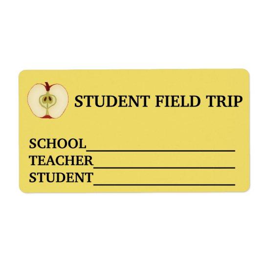 Custom Name School Field Trip Sticker Shipping Label