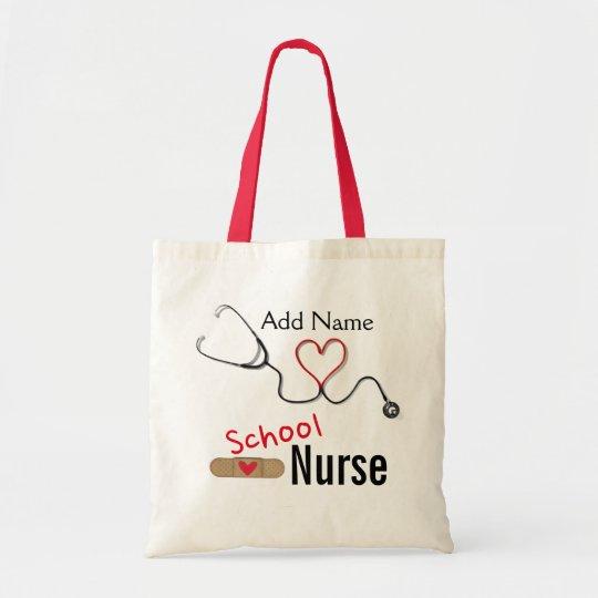 Custom Name School Nurse's Tote