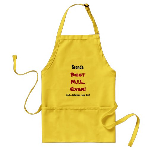 Custom Name Sentiment Best Mother in Law Ever Aprons