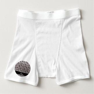 Custom name silver glitter cheerleading boxer briefs