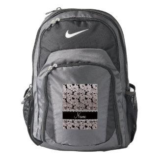 Custom name silver glitter cheerleading backpack