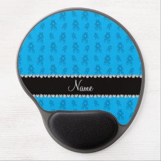 Custom name sky blue ballet shoes gel mouse mat