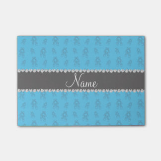 Custom name sky blue ballet shoes post-it® notes