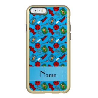 Custom name sky blue firemen badges hydrants incipio feather® shine iPhone 6 case