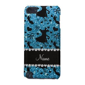 Custom name sky blue glitter ballroom dancing iPod touch 5G cases