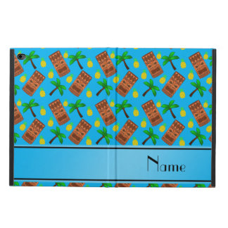 Custom name sky blue tiki pineapples palm trees powis iPad air 2 case