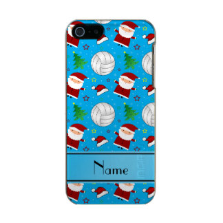 Custom name sky blue volleyball christmas pattern incipio feather® shine iPhone 5 case