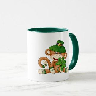 Custom Name Sock Monkey St. Patrick's Day Gift Mug