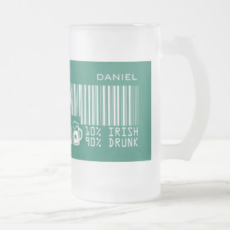 Custom Name St. Patrick's Day Fun Gift Beer Mugs
