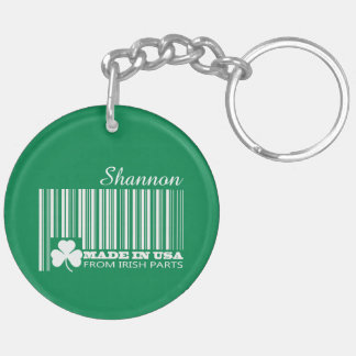Custom Name St. Patrick's Day Fun Gift Keychains