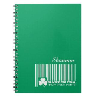 Custom Name St. Patrick's Day Fun Gift Notebooks