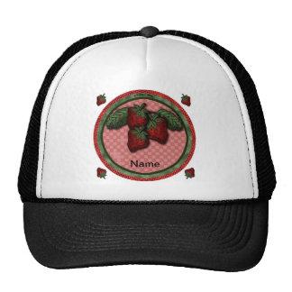 Custom Name Strawberry Trucker Hat
