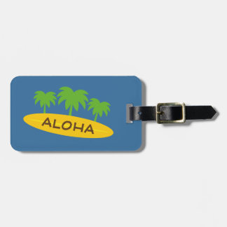 Custom name surfing theme travel luggage tags