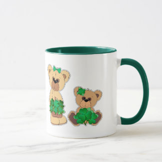 Custom Name Teddy Bear St. Patrick's Day Gift Mugs