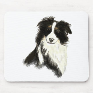 Custom Name text Border Collie Dog Pet Mouse Mat