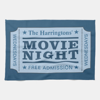 "Custom name & text ""Movie Ticket"" towel"