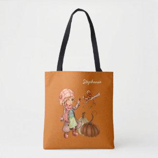 Custom Name Thanksgiving Gift Tote Bags