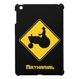Custom Name Tractor Road Sign iPad Mini Case