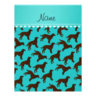 Custom name turquoise american water spaniels 21.5 cm x 28 cm flyer