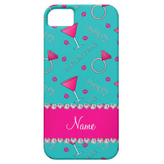 Custom name turquoise bachelorette cocktails rings iPhone 5 covers