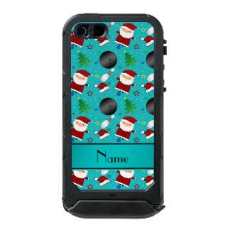 Custom name turquoise bowling christmas pattern incipio ATLAS ID™ iPhone 5 case