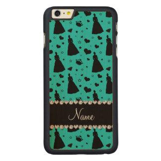 Custom name turquoise princess hearts stars crown iPhone 6 plus case