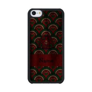Custom name ugly christmas sweater candy canes carved® walnut iPhone 5C case