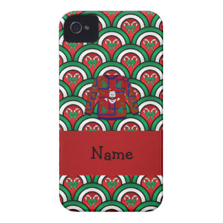 Custom name ugly christmas sweater candy canes blackberry bold case