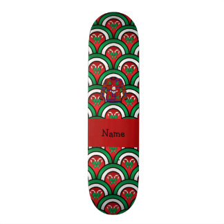Custom name ugly christmas sweater candy canes custom skate board