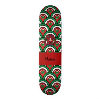 Custom name ugly christmas sweater candy canes custom skate board