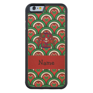 Custom name ugly christmas sweater candy canes carved® maple iPhone 6 bumper case