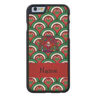 Custom name ugly christmas sweater candy canes carved® maple iPhone 6 case