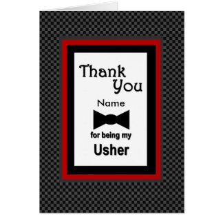 CUSTOM NAME - USHER Wedding Thank You Greeting Card