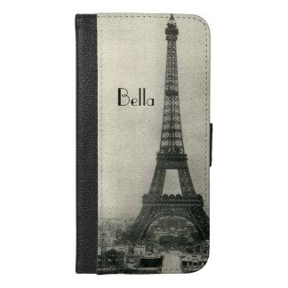 Custom Name Vintage Eiffel Tower