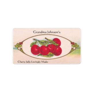 Custom Name Vintage Food Label Address Label