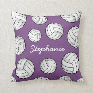 Custom Name Volleyball Purple Home Cushion