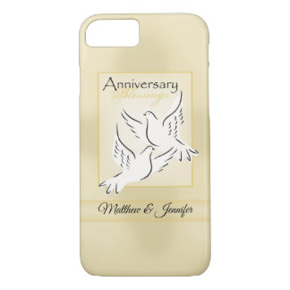 Custom Name, Wedding Anniversary Blessings iPhone 8/7 Case